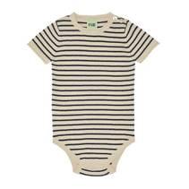 Baby Body Beige m striper Marineblå FUB
