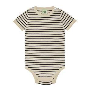 Bilde av Baby Body Beige m striper Marineblå FUB