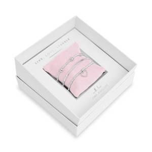 Bilde av Gavesett LIVE LOVE SPARKLE 3 stk armbånd Sølv Joma Jewellery