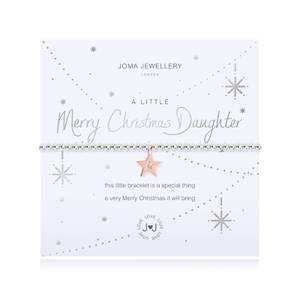 Bilde av Armbånd MERRY CHRISTMAS DAUGHTER Sølv rosegull Joma Jewellery