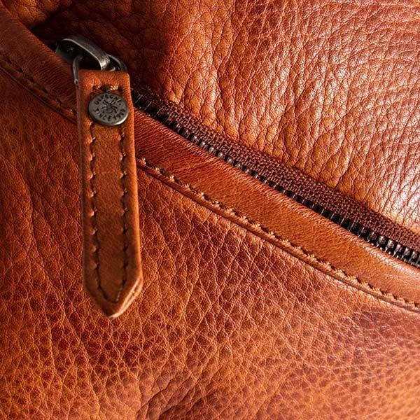 Skinnveske Crossover Casual Chic Vintage cognac brun Depeche