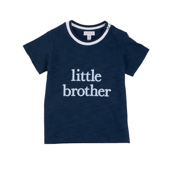 T-skjorte LITTLE BROTHER blå Livly