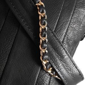 Bilde av Veskereim svart skinn med gull metall 124 cm Depeche