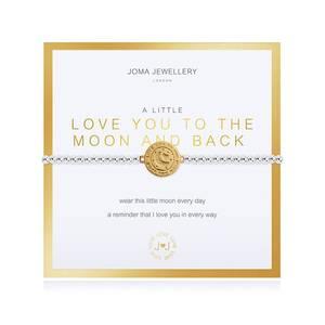 Bilde av Armbånd LOVE YOU TO THE MOON AND BACK gull Joma Jewellery