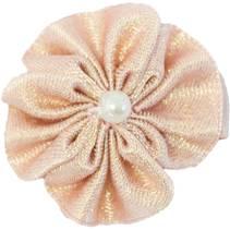 Baby Hårspenne Blomst perle rosa metallic - Den lille prikken ov