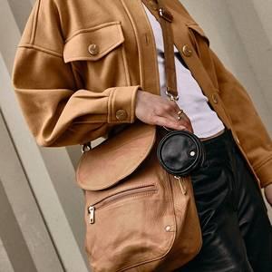 Bilde av Stor crossover veske Golden Chic caramel Depeche