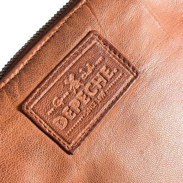 Clutch veske Power Field vintage cognac brun Depeche