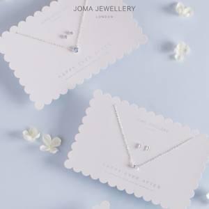 Bilde av Brudesmykke sett Rund blå krystall sølv Joma Jewellery