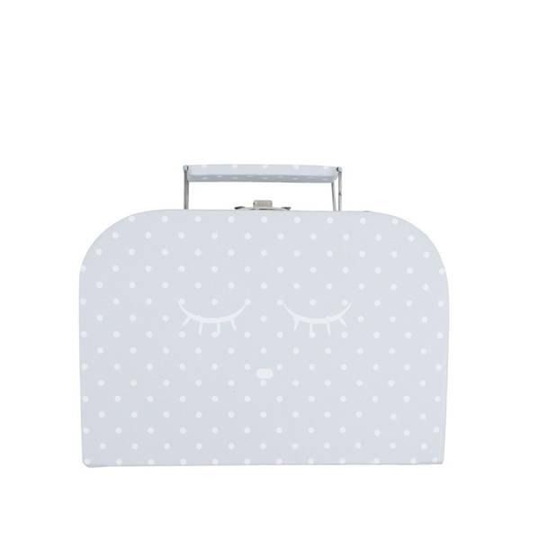 Koffert grå-hvit prikker Sleeping Cutie liten Livly