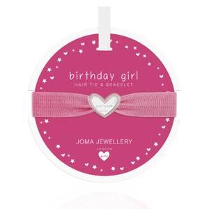Bilde av Hårstrikk og Armbånd BIRTHDAY GIRL Hjerte Barn Joma Jewellery