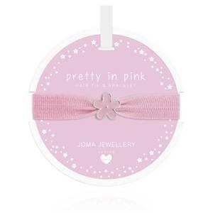 Bilde av Hårstrikk og Armbånd PRETTY IN PINK Blomst Barn Joma Jewellery