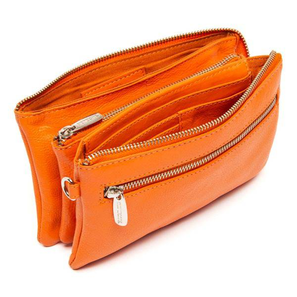 Skinnveske clutch Fashion oransje Depeche
