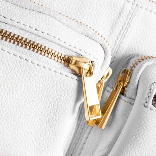 Skinnveske crossover Golden Deluxe hvit gull Depeche