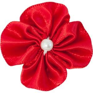 Bilde av Baby Hårspenne Blomst rød - Den lille prikken over i en