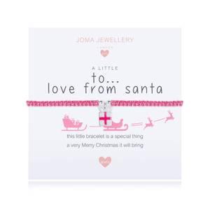 Bilde av Armbånd TO.. LOVE FROM SANTA Rosa-Sølv Barn Joma Jewellery