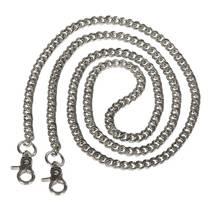 Metallenke veskereim 124 cm sølv Depeche