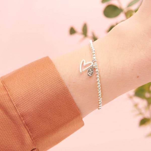 Armbånd BEST FRIEND Hjerte sølv Joma Jewellery