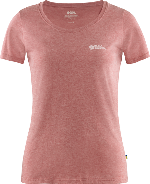 Bilde av Fjällräven Logo T-shirt W - Raspberry Red/Melange