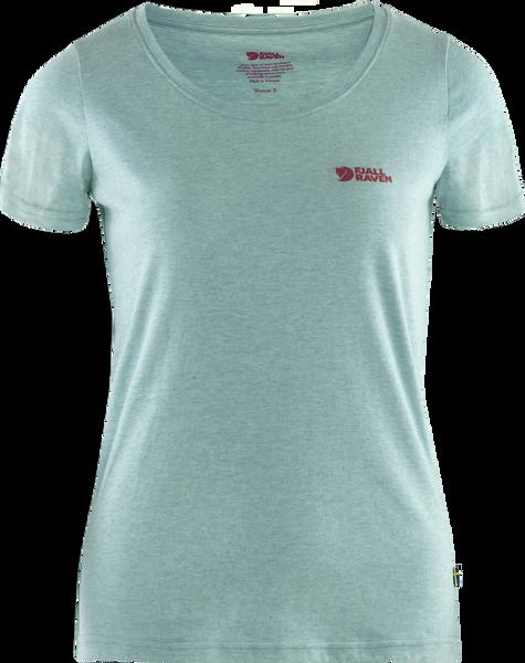 Bilde av Fjällräven Logo T-shirt W - Clay Blue/Melange