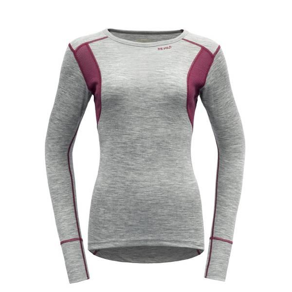 Bilde av Hiking Woman Shirt - Grey Melange/Beetroot