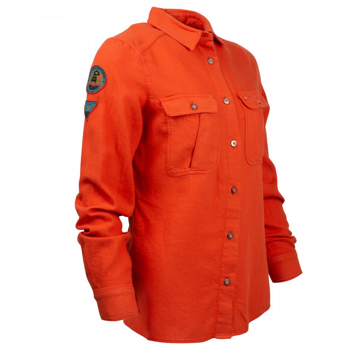 Amundsen Flannel Shirt Womens - Red Clay