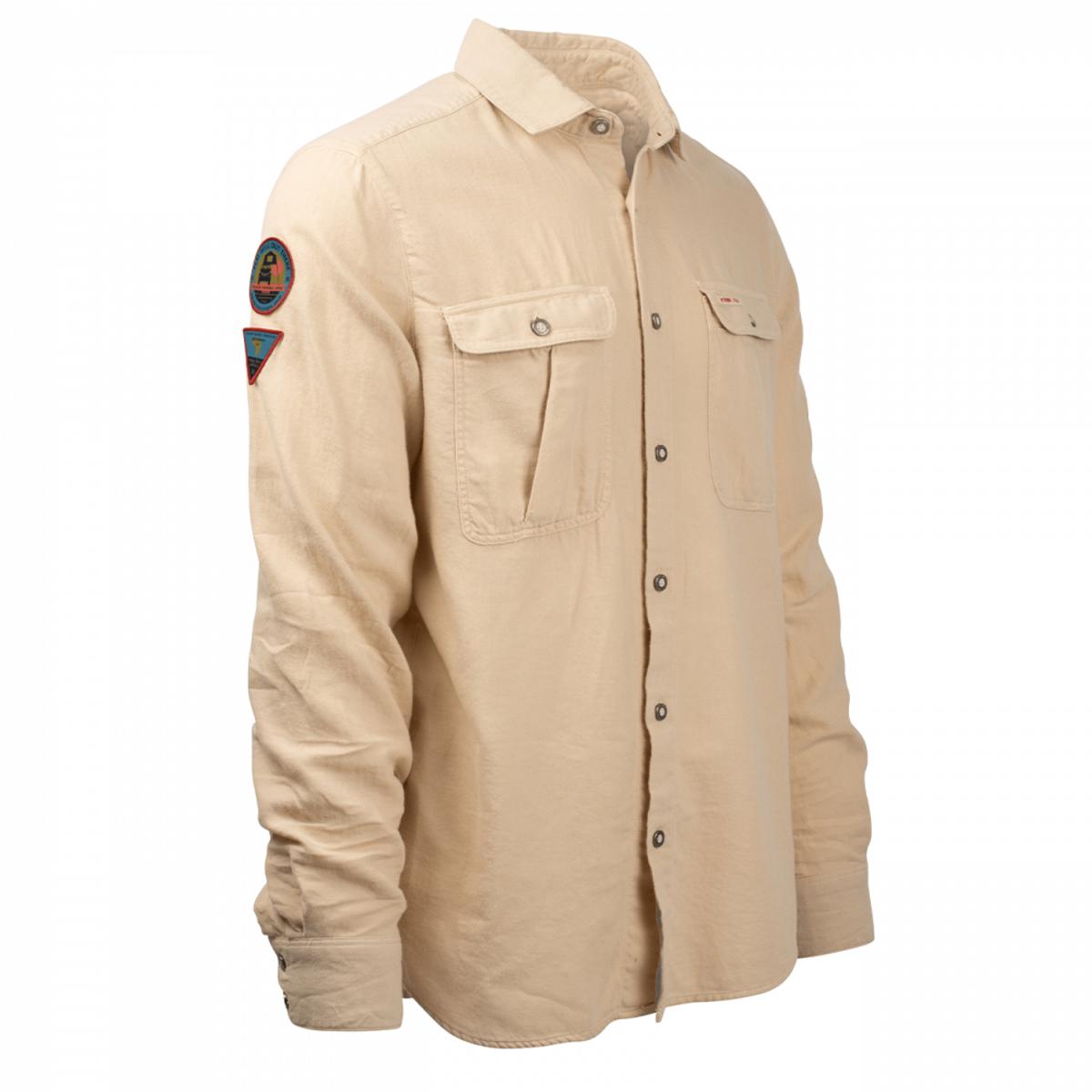 Amundsen Flannel Shirt Mens - Desert