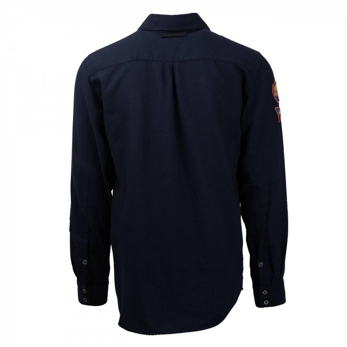 Amundsen Flannel Shirt Mens - Faded Navy