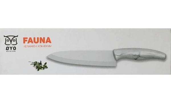 Bilde av Fauna keramisk sanyoku kokkekniv