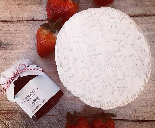 Jordbærmarmelade med lakris og lime 110ml