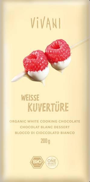 Bilde av Hvit sjokolade coverture, 200 g, økologisk