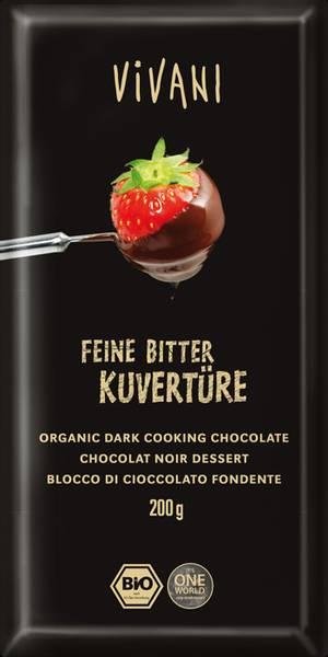 Bilde av Mørk sjokolade 70% coverture, 200 g, økologisk