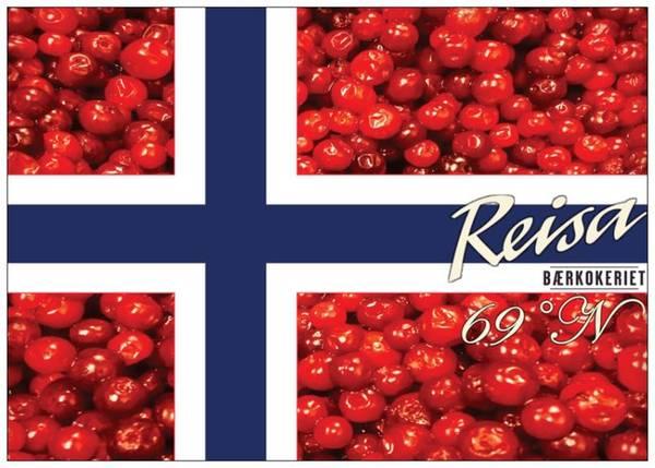 Bilde av Postkort Tyttebærflagg