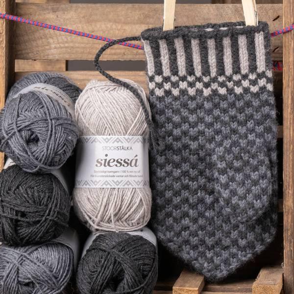 Bilde av Strikkepakke vanter fra Skajdde