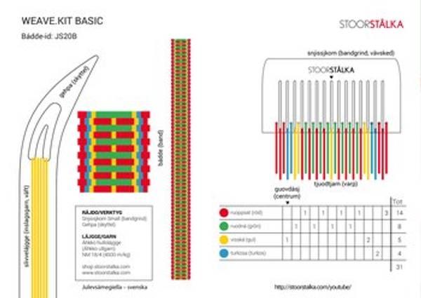 Bilde av Weave.kit Basic rød -grønn