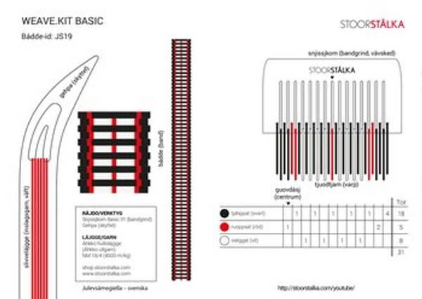 Bilde av Weave.kit Basic hvit -svart