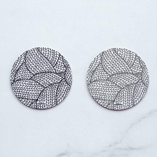 Bilde av Glassbrikke strikk sort/grå