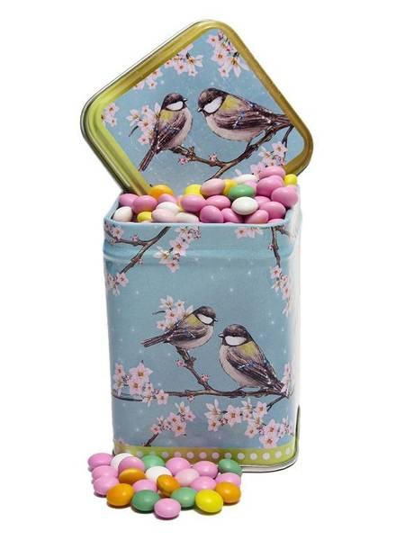 Bilde av Fugleboks  med sjokoladelinser
