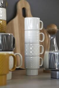 Bilde av Coffee & More Espressokrus 4-pakning, hvitt