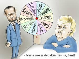 Bilde av Niels Gerhard karikatur - Prøv lykken