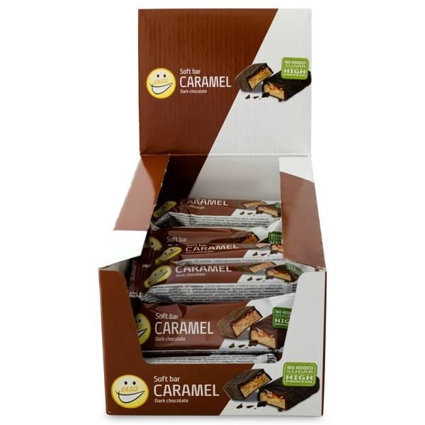 Bilde av EASIS Soft bar Karamel Mørk sjokolade, eske á 24