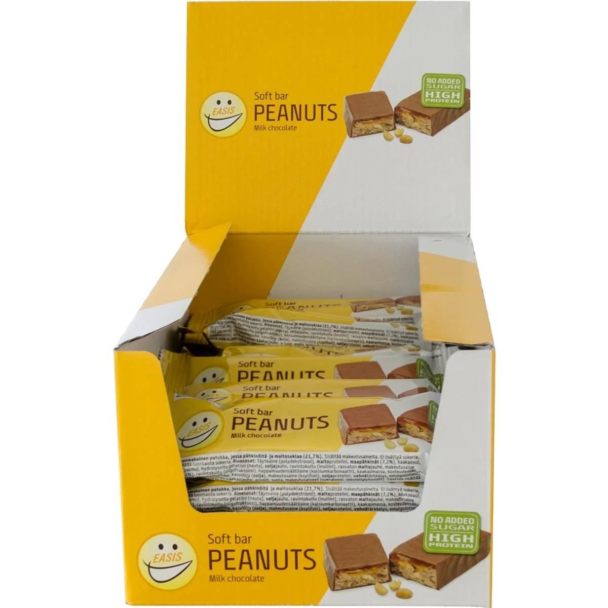 EASIS Soft bar Peanuts med sjokolade, eske á 24 stk