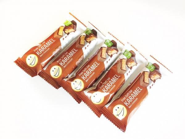 Bilde av EASIS Soft bar Karamel Mørk sjokolade, 5 stk