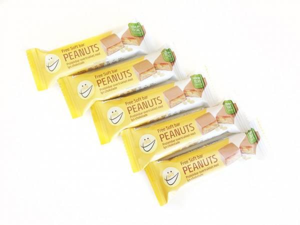 Bilde av EASIS Soft bar Peanuts med sjokolade, 5 stk