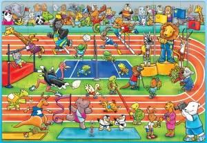 Bilde av ORCHARD TOYS - PUSLESPILL,THE ANIMAL GAMES