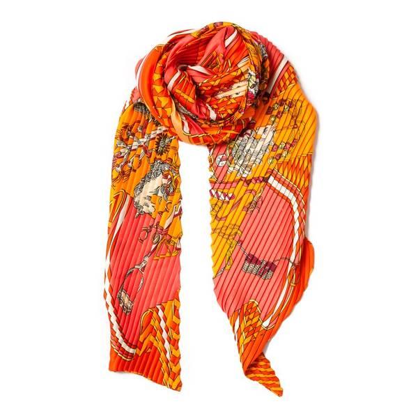 Lite plisse skjerf - orange