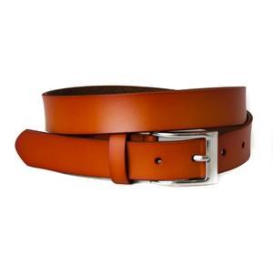 Bilde av Belte med firkantet spenne skinnbelte - orange