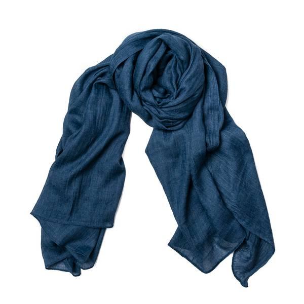 Skjerf i modal - jeansblå