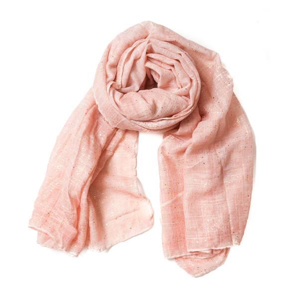 Skjerf med gulldekor - rosa