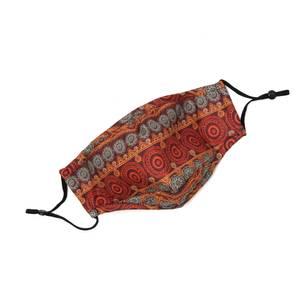 Bilde av Munnbind i bomull med filterlomme - varme farger