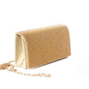Bilde av Selskapsveske med krystaller - gull